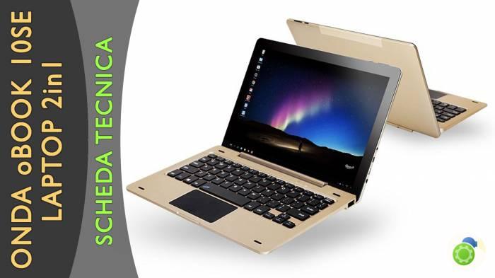 Onda oBook 10 SE - La scheda tecnica di Best-Tech.it