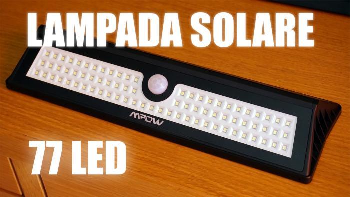 Lampada Solare 77 LED con Sensore di Movimento Mpow