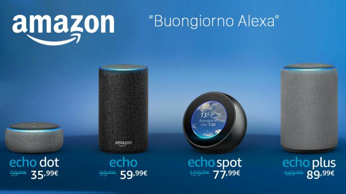 Amazon Echo, Alexa parla italiano e costa il 40% in meno!!!