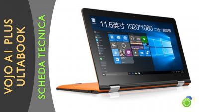 Vojo A1 Plus laptop convertibile - La scheda tecnica di Best-Tech.it