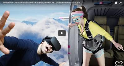 Lanciarsi col paracadute in Realtà Virtuale - Project M: Daydream con Oculus Rift