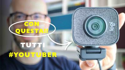 Logitech StreamCam, Videocamera economica per aspiranti #YOUTUBER e #STREAMER